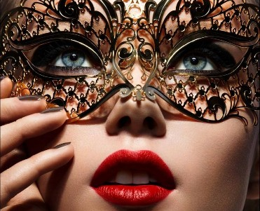 Black Filigree Mask