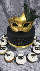 Masquerade Cake - Black Gold