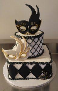 Masquerade Cake - Black & White
