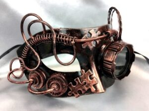Steampunk Copper Mask with Goggle