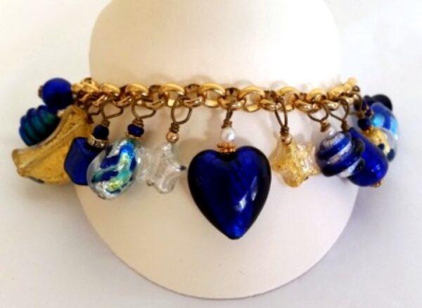 Cobalt Blue Celestial Charm Bracelet