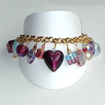 Murano Jewelry Amethyst Bracelet