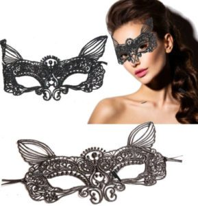 Black Cat Fancy Dress Mask