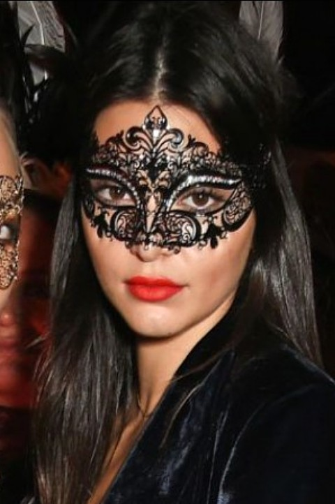 Ladies Black Masquerade Masks