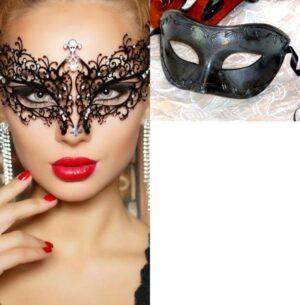 Pair of Masquerade Masks - Bella
