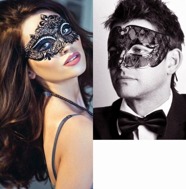 Black Couples Masquerade Masks