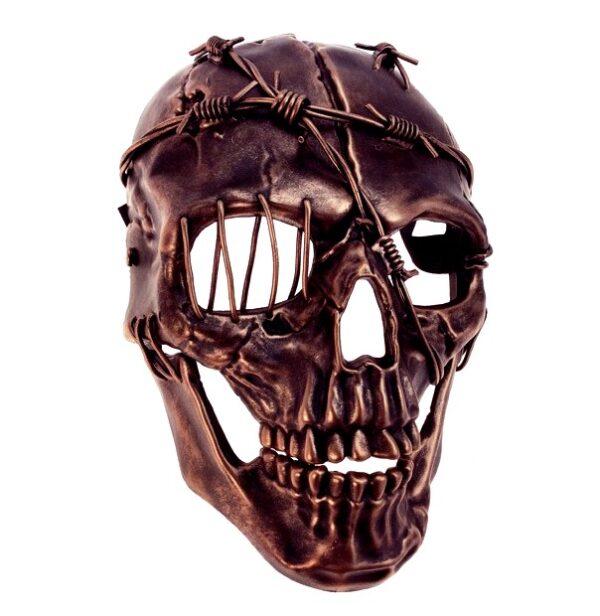 Pirate Skull Mask Copper Barbed