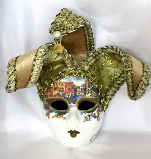 Venezia Gold Jester Mask