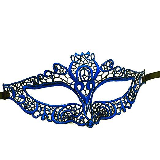 Blue Lace Masquerade Mask