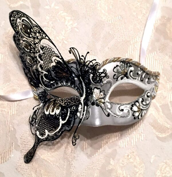 Butterfly Masquerade Mask Gold Silver