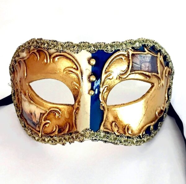 Blue Mens Masquerade Mask
