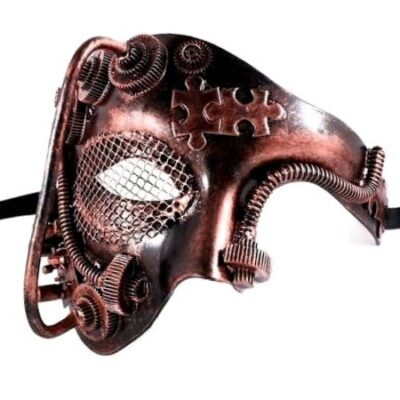 Steampunk Phantom Mask Retro Vintage Cosplay Masquerade