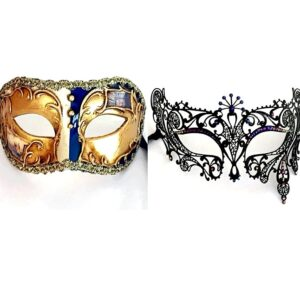 Blue Couples Masks
