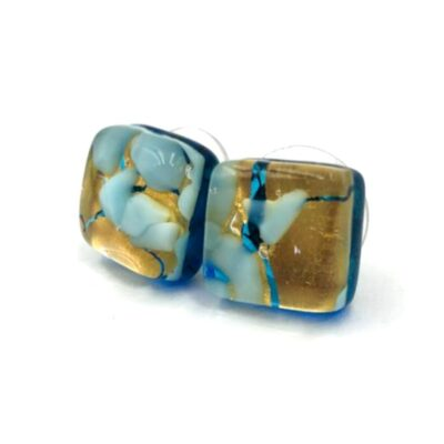 Blue Stud Murano Earrings