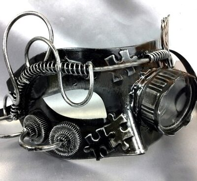 Steampunk Mask with Eye Glass Goggle, Vintage Cosplay Fancy Dress