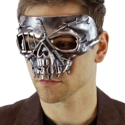 Barbed Skull Masquerade Mask Cosplay Fancy Dress