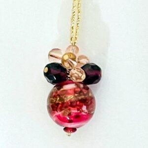Fiesta Berry Murano Necklace