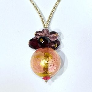 Fiesta Ruby Champagne Necklace