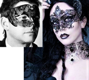 Couples Black Masquerade Masks
