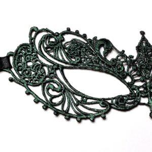 Emerald Green Lace Masquerade Mask