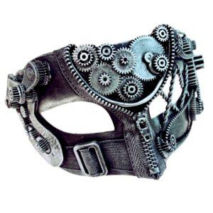 Steampunk Zip Mask Silver