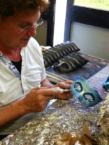 Masquerade Mask Information, Here's the Blog from Antoinette. 25 years experience in Masquerade Masks & a life's work still in progress.
