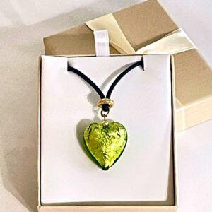chartreus-lime-murano-glass-heart
